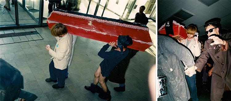 Перформанс «Культ асобы» ад «Спецбрыгады афрыканскіх братоў» на фестывалі «Навінкі» 9 верасня 1999 года