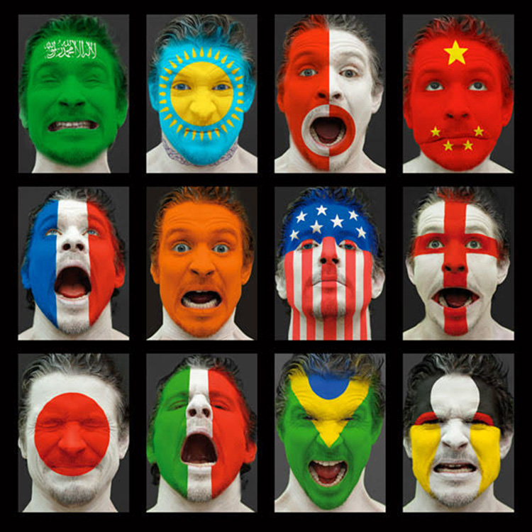 Maxim Wakultschik. Faces of nations – I'm a citizen of this world! Self-portraits. Photography, 2006 - 2016